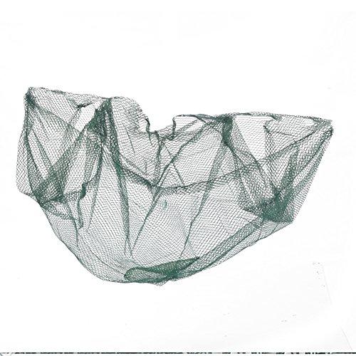 Yzki Faltbares Angelnetz, 60 x 60 cm, Nylon, Netz, Ködernetz, Krebsfische, Hummergarnele, Fischkäfig, grün, 60 * 60cm