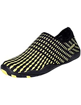 UPhitnis Agua Zapatos Aqua Shoes para hombres, mujeres, niños Quick-Dry Ultra-light Unisex Anti-Slipped Barefoot...