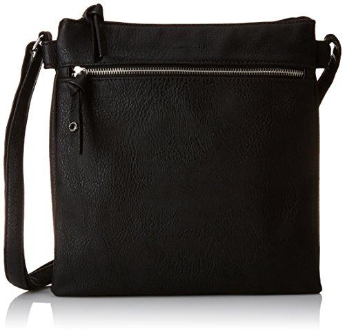 Tamaris Damen Marlene Crossbody Bag Umhängetaschen, Schwarz (Black 001), 26x27x2 cm