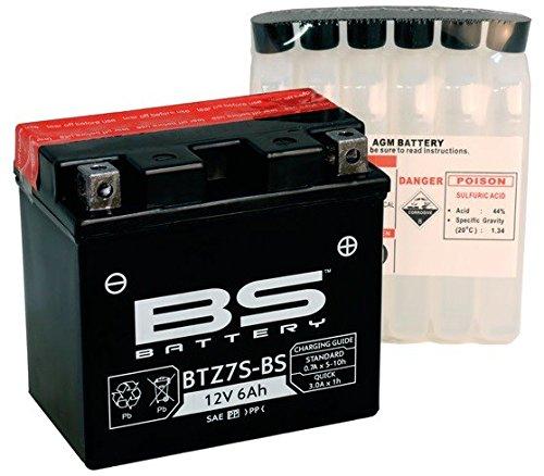 Xfight-Parts Batterie BTZ7S-BS 12V 6Ah 0,6 Liter DIN 507902 MTF Wartungsfrei 113x105x70mm 0.537.996-1 für KTM Duke 125
