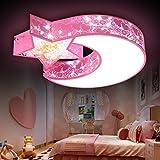 Kinder Zimmer Lampe modernen minimalistischen Cartoon kreativen jungen und Mädchen LED Lampe Schlafzimmer Licht Esszimmer Wohnzimmer Deckenleuchte,30W weiß/warmes weißes Licht
