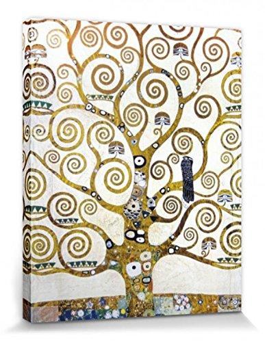 1art1 Set: Gustav Klimt, Der Lebensbaum (Detail) Poster Leinwandbild Auf Keilrahmen (50x40 cm) + 1x...