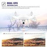 Potensic T25 Drone GPS con Videocamera 1080P HD WiFi FPV RC 2.4Ghz Quadricottero Telecomandato con Funzione Grandangolare-Regolabile Camera Seguimi Sospensione Altitudine Senza testa e Controllo di Più Lunga Distanza by Potensic