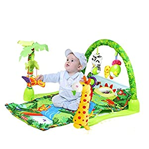 Lay & Play 3 in 1 Musical Baby Jungle Gym Activity Lullaby Mat