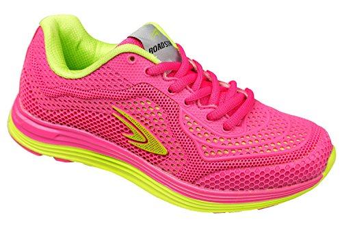 GIBRA® Damen Sportschuhe, sehr leicht und bequem, pink/neongrün, Gr. 36-41 pink/neongrün
