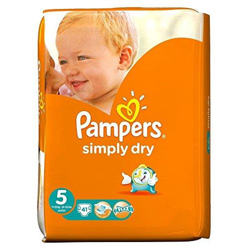 Preisvergleich Produktbild Pampers Simply Dry Größe 5 Junior 11-25kg (41) - Packung mit 2