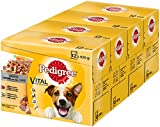 Pedigree Hundefutter Nassfutter Vital Protection Adult Pastete mit Rind Huhn und Karotten, 48 Beutel (4 x 12 x 100 g)
