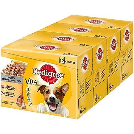 Pedigree Vital Protection Hundenassfutter im Beutel – Hundefutter als Pastete mit Rind & Karotten und Huhn & Karotten…