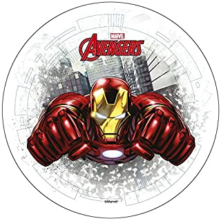 Avengers Iron Man 20cm 8 inch Edible Wafer Cake Topper. Licensed Product. Modecor.