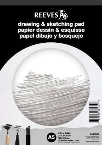 reeves-8490654-block-skizzen-und-zeichnen-a5-50-seiten