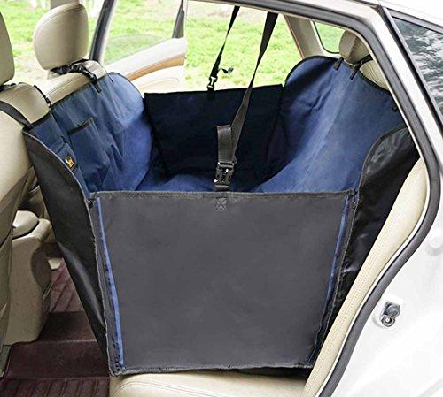 Ondoing Autoschutzdecke Hunde Wasserdicht Hundeschutzdecke Haustier Rückbank Sitzbezug Schondecken Hängematte Rutschfest Abriebfestigkeit Car Seat Cover Protection Hundedecke Auto Kratzfest (165cm * 143cm * 50cm, blau)