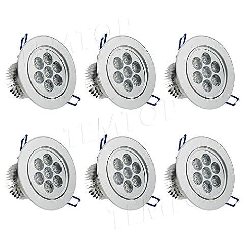 Barre 6 Spots - Auralum Lot de 6 ampoules spots à