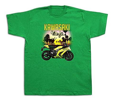 Motorcycle kawasaki ninja sunset Hot Rod Tshirts Highway Bike Set Kit ZX6R 250R