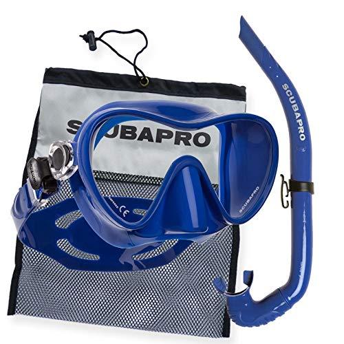 SCUBAPRO Trinidad 3 - Profi Schnorchelset mit Apnea Silikonschnorchel, Farbe:blau