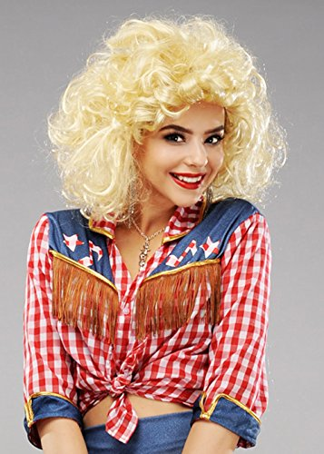 Damen Blonde Dolly Parton Style Land Diva Perücke