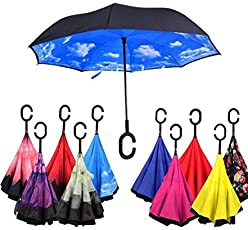 Being Shopper Double Layer Inverted Inside Out Cars Reverse Windproof Umbrella