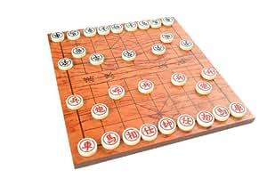Azerus Premium Line: Klassisches Xiangqi, Edelversion aus Rosenholz - Chinesisches Schach - Elefantenschach - Chinese Chess, hochwertige Spielsteine aus Hartkunstoff (30cm x 30cm x 2,5cm; Feldgröße 2,5cm), Holzbrett auch Aufbewahrungsschachtel, Art. A0002 DE