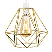 JumpXL 7Colors Geometric Lampshade Hollow Design Pendant Lightshade Lighting Accessories For Home Living Room