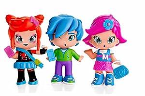 Pinypon by PINY PINY - Pack de 3 figuritas Michelle, Rita y Sam (Famosa 700014144)