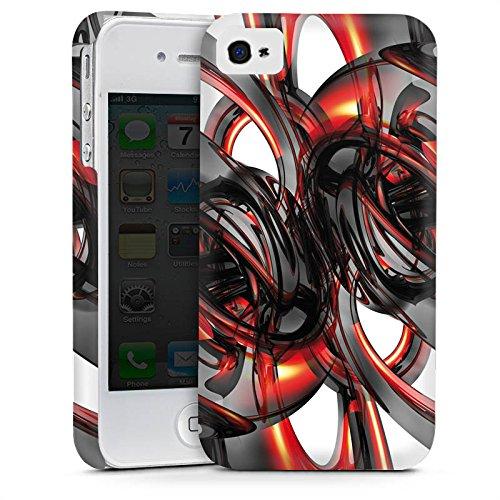 Apple iPhone 4 Housse Étui Silicone Coque Protection Strudel Vernis Brillance Cas Premium mat