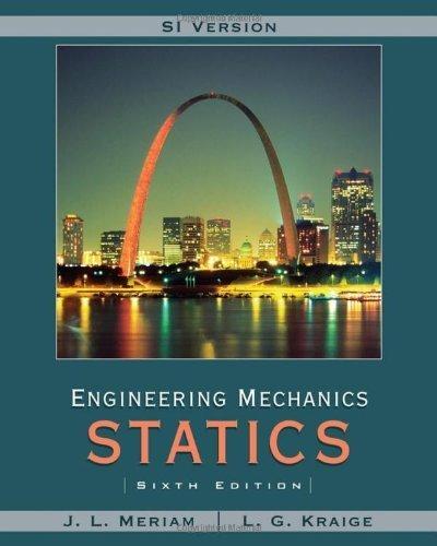 Meriam Engineering Mechanics: Statics SI Version by Meriam, J. L., Kraige, L. G. (2008) Paperback