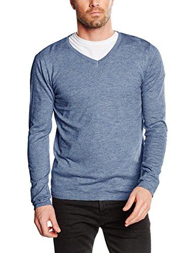 Tom Tailor Light Knitted N-Neck, Pull Homme Bleu (ensign blue 6865)