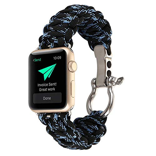 Ksruee Band für Apple Watch Series 4 mit 40 / 44mm Militär Standard Herren Klassische Wandern Durable Leichte Breathable Frauen Ersatz Gewebte Nylon Loop Armband Watchstrap für Camping Wandern -