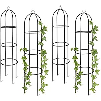 relaxdays rankobelisk 190 cm aus metall rosen rankturm. Black Bedroom Furniture Sets. Home Design Ideas