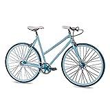 28 Zoll Damenrad Urbanrad Vintage Rennrad Fahrrad CHRISSON FGS CrMo Lady mit 2S Kick Shift Sturmey Archer light blau