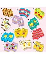 protège-genou de bébé en coton de motif Cartoon Unisexe protecteur de genou du bébé- 2 pièces style au hasard