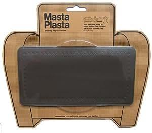 MastaPlasta - Pansement du cuir pour les petits bobos de votre canapé, sac ou veste en cuir aussi. 20cm x 10cm. Simple Design Marron