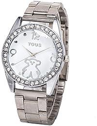 Venta de aleación de reloj de la manera Tous barato de las mujeres de plata