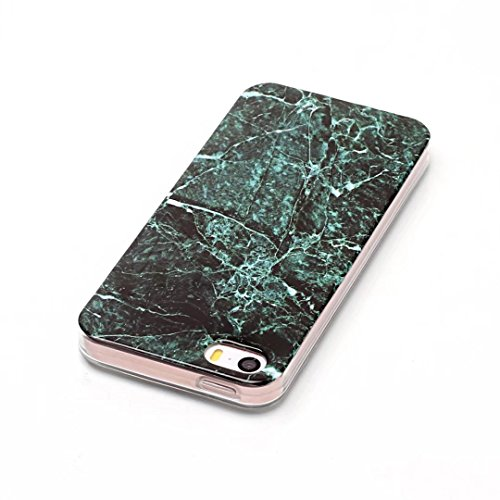 Cover iPhone 6 Plus,Custodia iPhone 6S Plus plus,TXLING Paesaggio Scenario Creativa Cover Ultra sottile Silicone Morbido Flessibile TPU Gel Protettivo Skin Caso Custodia Protettiva Shell Case Cover Pe Verde nero