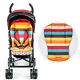 Universal Cochecito de bebé cochecito de asiento maletero, Woopower Rainbow de grosor cojín de algodón Pad–Esterilla de paseo Buggy impermeable para niños,