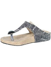 Mangal Stylish Black And White Flat Sandal For Girls And Women