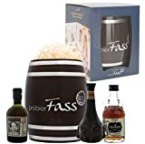 probierFass Rum Geschenkset | 3 Rum Klassiker (3 x 0.05 l) verpackt in einem originellen Fass | Botucal Reserva Exclusiva - Deadhead 6 Years - The Kraken Black Spiced