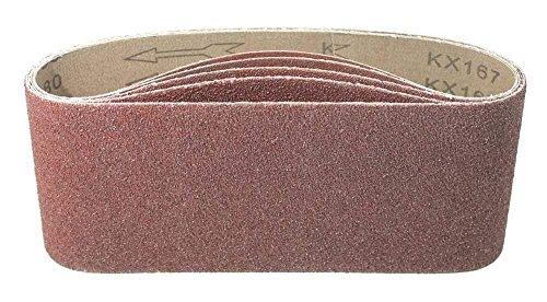 30 Gewebe - Schleifbänder 100x560 mm MIX/Körnung je 6x Korn 40, Korn 60, Korn 80, Korn 120, Korn 180, Schleifpapier/Schleifbänder / Bandschleifer