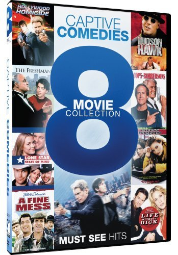 Captive Comedies: 8 Movie Collection (Hollywood Homicide/Hudson Hawk/The Freshman/Cops and Robbersons/Lone Star State of Mind/Excess Baggage/A Fine Mess/Life Without Dick) by Harrison Ford
