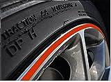 4mm Hell rot Felgenrand Aufkleber 10-24 Zoll Radgröße passend für Motorrad und Auto geeignet