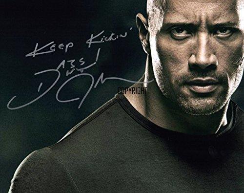 The Rock fotografia firmato edizione limitata + stampato Autograph