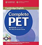 [(Complete PET Workbook with Answers with Audio CD)] [ By (author) Peter May, By (author) Amanda Thomas ] [March, 2010]
