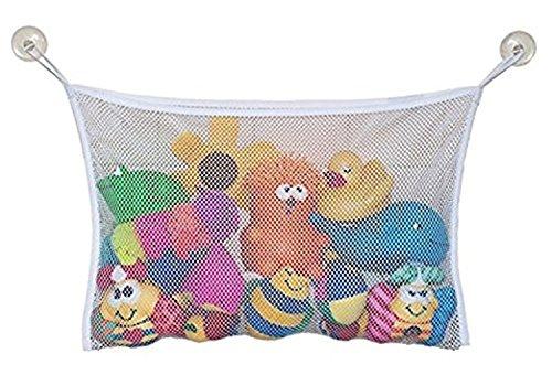 Yezelend Perfektes großes Bad Spielzeug Netz für Badewanne Spielzeugnetz & Badezimmer Lagerung mitUltra Strong Hooked Saugnäpfe Mesh Bad Spielzeug Organizer Multi Use Dusche Taschen Machen (m-35*45)