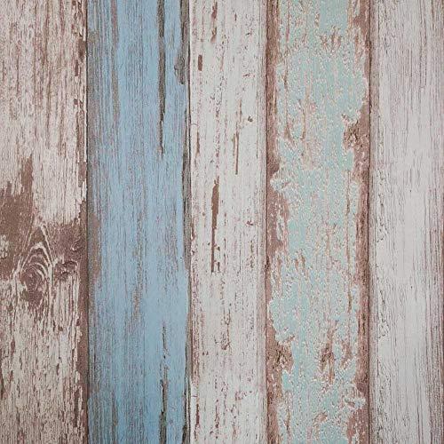 (Tapete Kontakt Papier 31.6 Quadratmeter Wandverkleidung Vinyl Blau Holz Dekorative selbstklebende schälen und Stick Moistureproof wasserdichtes hängendes Papier für Wanddekoration (0.53 * 5.65m) …)