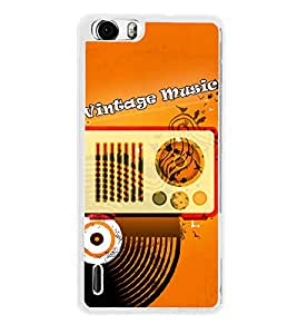 Fuson Radio Record Music Designer Back Case Cover for Huawei Honor 6 (Parish Wonder Vintage Eiffel Tower Car Bike Scooter Cassette Coffee)