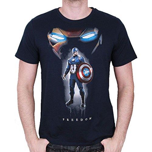 Maglietta Captain America Civil War T Shirt Freedom Size S CODI