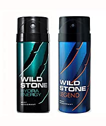 Wild Stone Hydra Energy And Legend Deodorant For Men (150 ML)