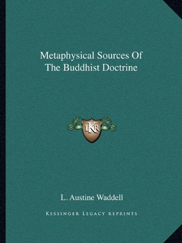 Metaphysical Sources of the Buddhist Doctrine