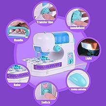 hunpta Electric sewing Studio máquina coser las actividades de los servicios de inteligencia juguete para niñas niños blanco
