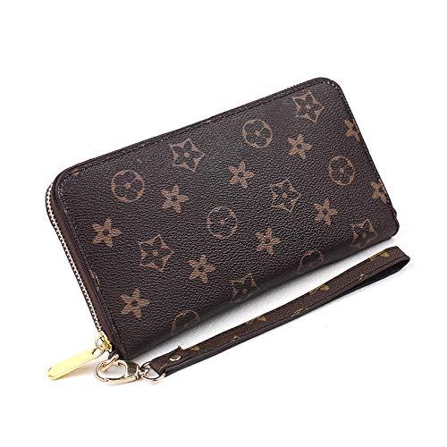 Ldyia Frauen drucken Lange Brieftasche Casual klassischen Druck Universal Rechnungen Brieftasche Mädchen Mode Handtasche Karte Geldbörse, Druck
