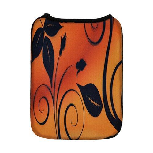 Luxburg® Design Tasche Hülle Sleeve Etui für eBook Reader und Tablet PC bis 7 Zoll, Motiv: Blumen und Blätter